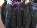 Womens Textile with zip out purple liner....